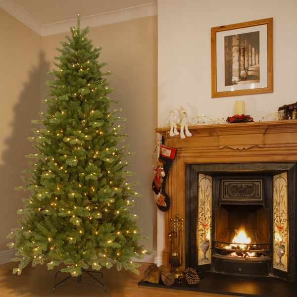 Color Switch Christmas Tree: 7.5' Pre-lit Deluxe Artificial Christmas Tree With Memory