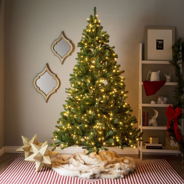Best Deal On Artificial Christmas Trees: 7' Pre-lit Artificial Christmas Tree With Hinged Branches