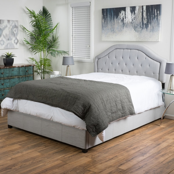 Christopher Knight Home Angelica Tufted Fabric Bed Set