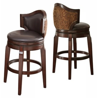 Belmont Leather Bar Stool 15143326 Overstock Com