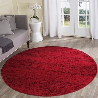 Nuloom Vintage Inspired Fancy Overdyed Red Round Rug 5 5