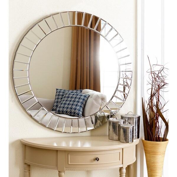Overstock Mirrors: Abbyson Living Santorini Round Wall Mirror