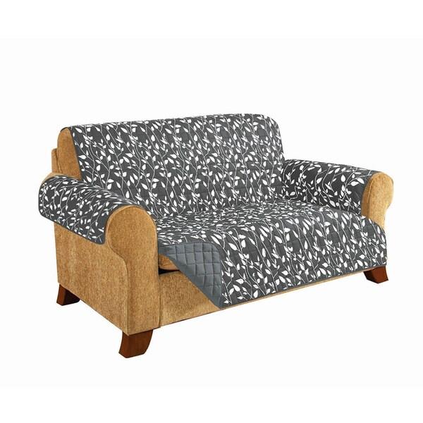 Elegant Comfort Leaf Design Quilted Reversible Furniture