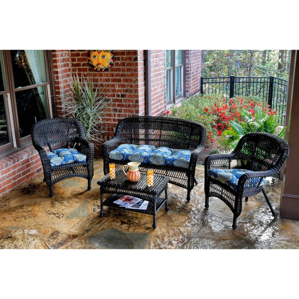 Tortuga Outdoor 4 Piece Portside Seating Set With Dark