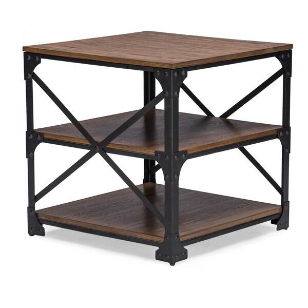 Bronze Industrial Coffee Table: Baxton Studio Greyson Vintage Industrial Antique Bronze