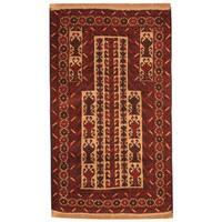 Herat Oriental Afghan Hand-knotted Tribal Balouchi Wool Rug - 3' x 5'