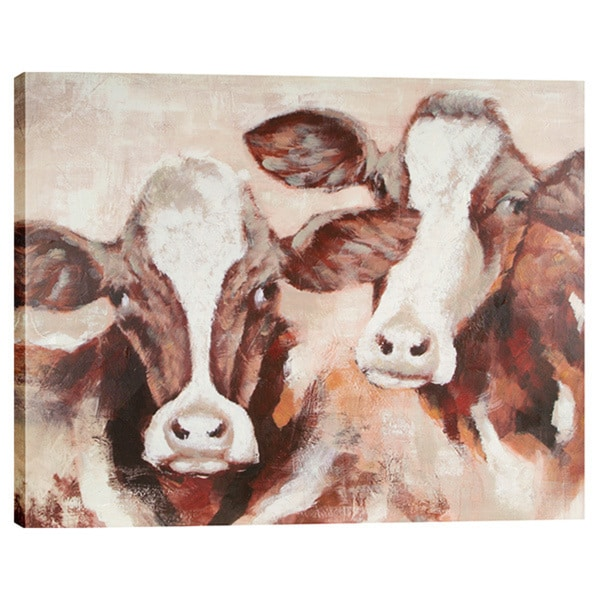 Cow Pals 48x40 Oil Painting Wall Art