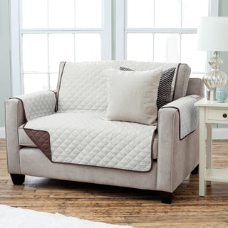 Sure Fit Reversible Flannel Sherpa Loveseat Furniture