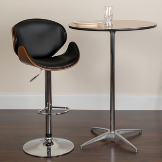 Amery Walnut And Black Modern Bar Stools Set Of 2
