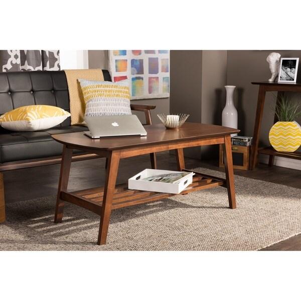 Mid Century Modern Style Coffee Table: Baxton Studio Sacramento Mid-century Modern Scandinavian