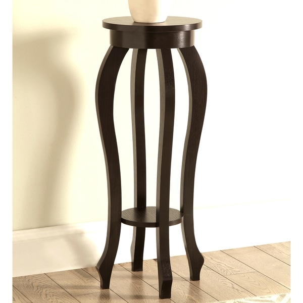 Atrium Curved Design Cappuccino Plant Stand Side Table