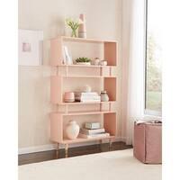 "Simple Living Margo Mid-Century 3-Shelf Bookshelf - 59.5""h x 36""w x 11.8""d"
