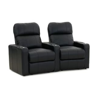 Brooklyn Four Seat Black Top Grain Leather Recliner Home