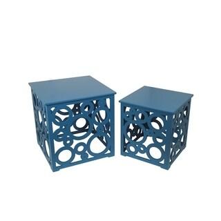 Safavieh Natanya Pearl Blue Grey Side Table 15217007