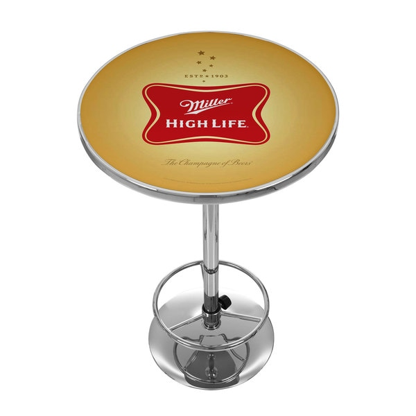 Miller High Life Stained Glass Pool Table Light: Miller High Life