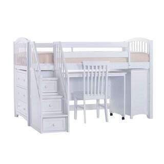 School House Junior Pecan Loft Bed With Storage 17730701