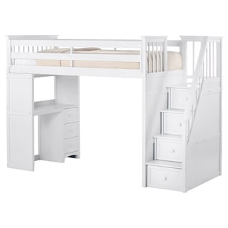 Donco Kids Twin Size Doll House Stair Step Loft 16012128