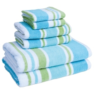 Yarn Dyed Ombre Jacquard 6 Piece Towel Set 16586484 Overstock Com Shopping Top