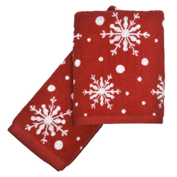 Peri Home Towels: Peri Home Snowflakes 2-piece Fingertip Towel Set