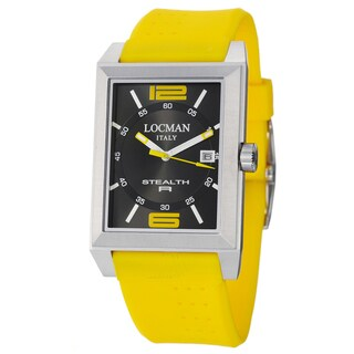 Locman Men's 'Sport' Stainless Steel and Rubber Watch