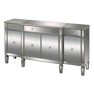 Mirrored Three Drawer Accent Chest 13247657 Overstock