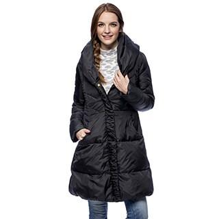 Larry Levine Women S Long Down Filled Hooded Coat