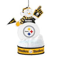 Pittsburgh Steelers LED Snowman Ornament