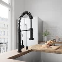 VIGO Matte Black Finish Kitchen Soap Dispenser