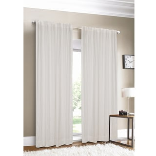 Luxury Linen White Lined Curtain Panel 11527386
