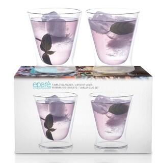 Epare 10 oz. Double-Wall Tumblr Glass (Set of 2)