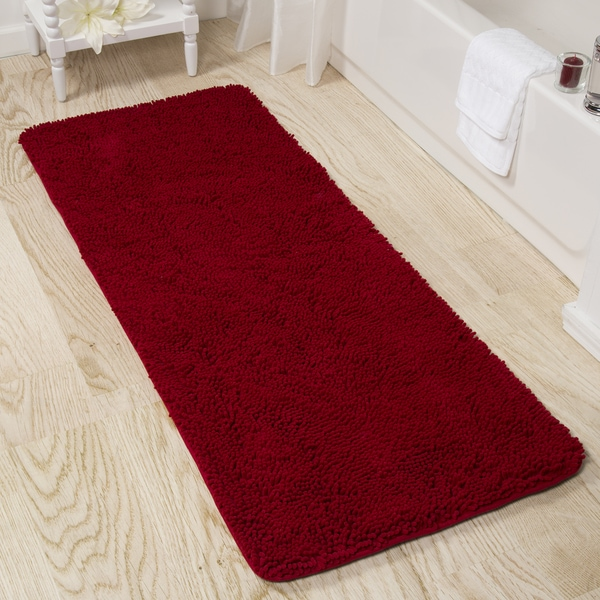 Windsor Home Memory Foam Shag Bath Mat 24 X 60 Inches