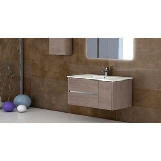 Fresca Allier 40 Inch Wenge Brown Modern Bathroom Vanity