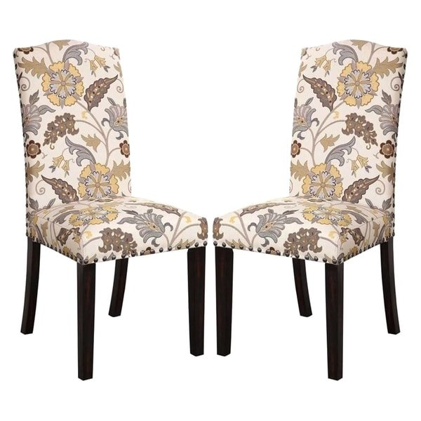 Floral Dining Room Chairs: La Merenda Tropical Magazine Inspired Floral Design Parson