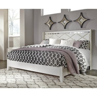 Celine 5 Piece Mirrored And Upholstered Tufted Queen Size