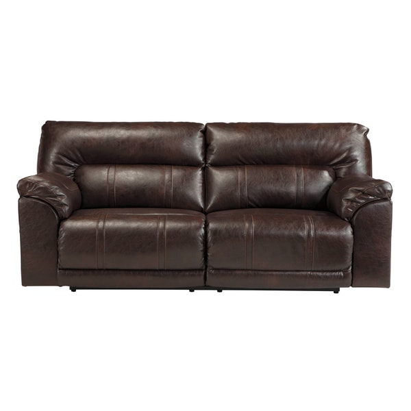 Signature Design By Ashley Barrettsville Durablend Chocolate 2 Seat Reclining Sofa 17791744