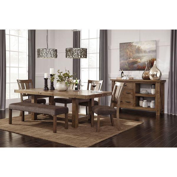Ashley Furniture Dining Room Table: Signature Design By Ashley Tamilo Gray/Brown Rectangle
