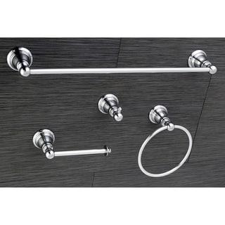 Sale Classic Polished Chrome 4 Piece Bathroom Accessory Set Top Guest Towel Holder