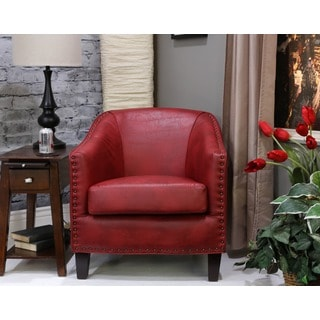 Christopher Knight Home Austin Oxblood Red Bonded Leather