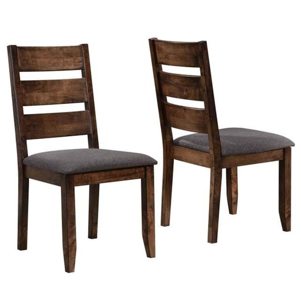 Milano Rustic Knotty Ladder Back Dining Chairs (Set Of 2