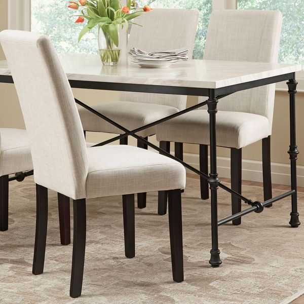 Dining Room Parson Chairs: Ramiro Fabric Upholstered Parson Chairs (Set Of 2