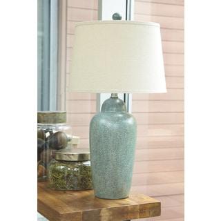 Casa Cortes Glass Zigzag Chevron Handcrafted Table Lamp