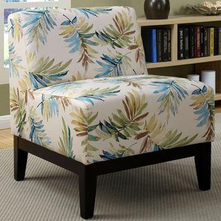 Safavieh Lynn Oval Print Blue Brown Lounge Chairs Set Of