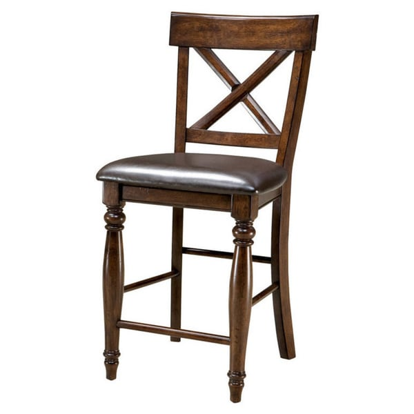 Shop Tribecca Home Watson 24 Inch Counter Height Chair: Kingston Raisin X-Back Barstool-set Of 2