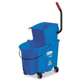 Rubbermaid Microfiber Flat Mops Press Wring Bucket