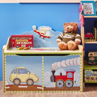 Jack And Jill Deluxe Toy Box With Book Rack 17791947