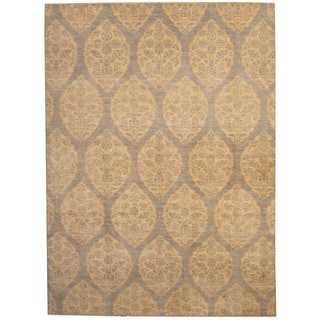 Eorc Hand Tufted Wool Blue Hand Avalon Blue Gold Rug 5