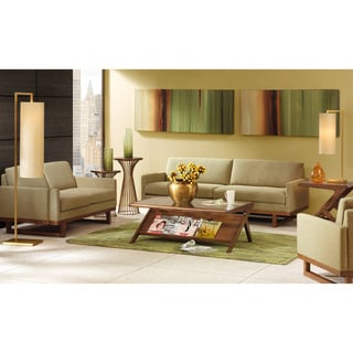 Madison Home Tufted Linen Mid Century Modern Sofa Architecture