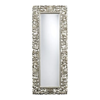 Stella Crystal Tufted Modern Floor Mirror 15281145