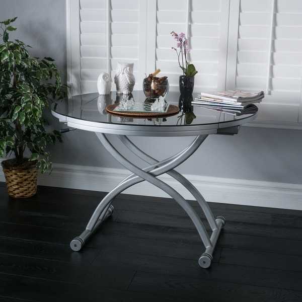 Folding Glass Top Coffee Table: Christopher Knight Home Shelby Glass Top Folding Table
