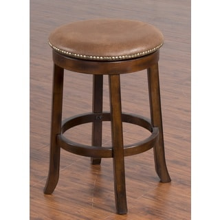Brendan Backless Brown Cherry Stool 15997762 Overstock